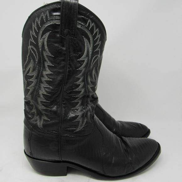 ef84642c045 🇺🇸 Tony Lama snakeskin cowboy boots men 10 1/2EE